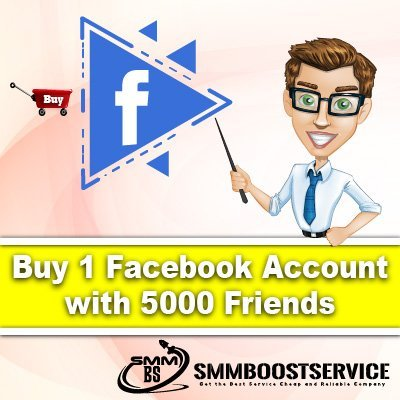 Buy Facebook Account 5000 Friends